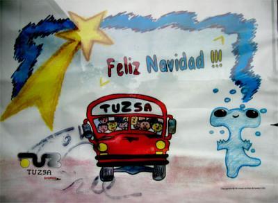 Navidad en el bus