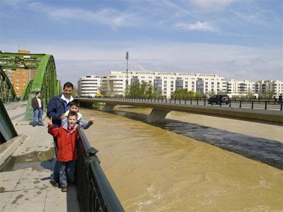 La crecida del Ebro