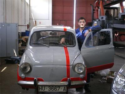 El nuevo coche de Isaac