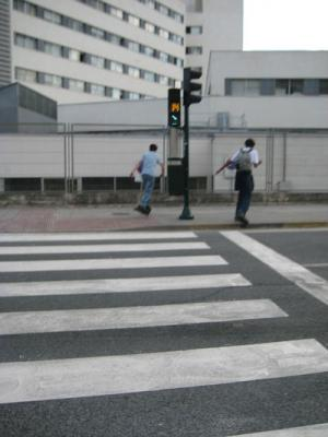 Semáforos en Pamplona