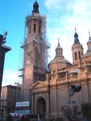 La Basílica <p> en obras