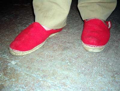 Las zapatillas rojas de<p> Lord Alfred